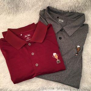 Set of 2 XL Adidas golf polos Men's
